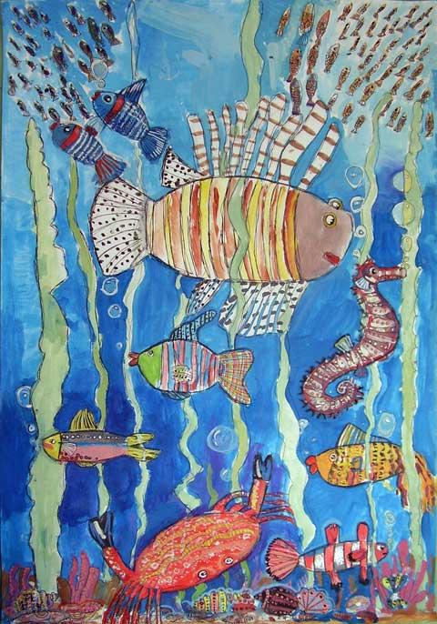 Конкурс подводные фантазии рисунки